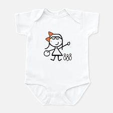 Girl & Bowling Infant Bodysuit