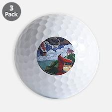 big red frame Golf Ball