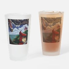 big red frame Drinking Glass