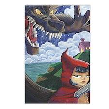 big red frame Postcards (Package of 8)