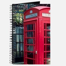 Red telephone booth in London, England. Journal