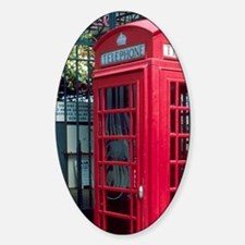 Red telephone booth in London, Engl Decal