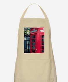 Red telephone booth in London, England. Apron