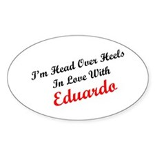 In Love with Eduardo Oval Decal