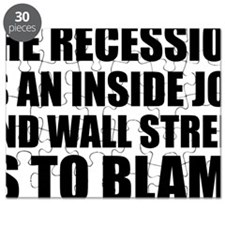 Recession is Inside Job Blame Wall Street Puzzle
