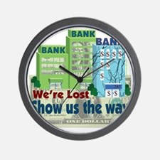 were lost show us the way copy Wall Clock
