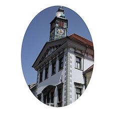 Slovenia. Ljubljana Old Town. Mestni Oval Ornament