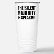 Silent majority speaking Stainless Steel Travel Mu