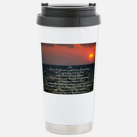 sunrise serenity Stainless Steel Travel Mug