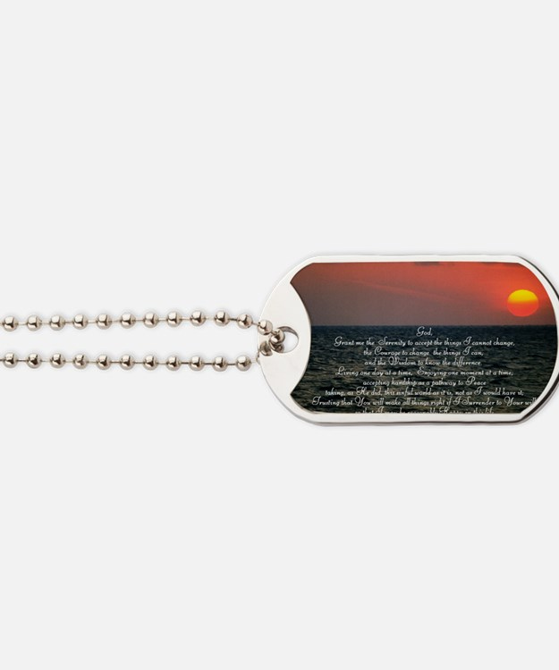 sunrise serenity Dog Tags