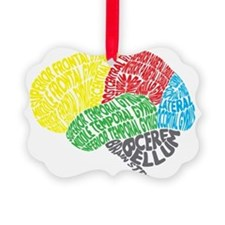 Your Brain (Anatomy) on Words Ornament