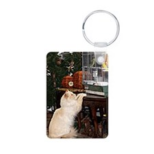 Cat and birds Keychains