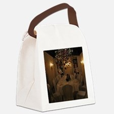 Christmas dining room Canvas Lunch Bag