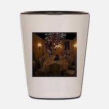 Christmas dining room Shot Glass