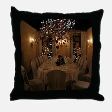 Christmas dining room Throw Pillow