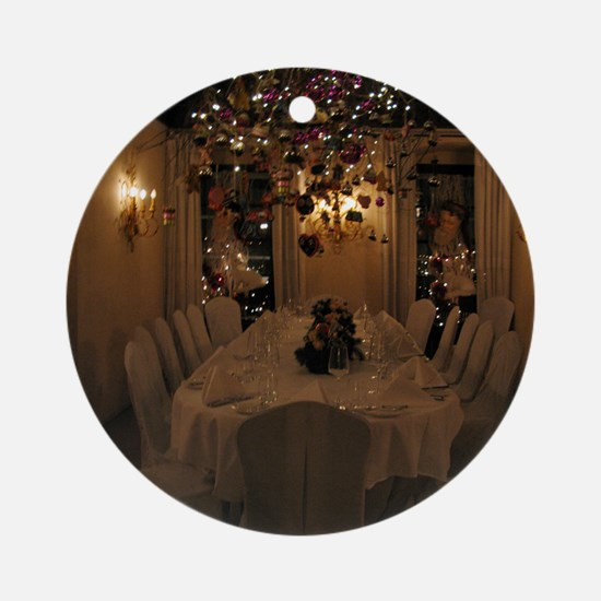 Christmas dining room Round Ornament