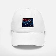 Space scenery with globe planets nebula dusts Baseball Baseball Cap