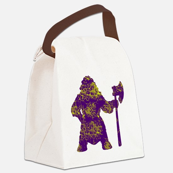 vikingsyellowpurpe Canvas Lunch Bag