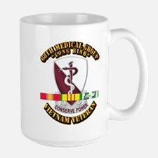 68th Medical Group w SVC Ribbon Large Mug
