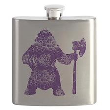 purple clear Flask