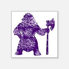 """purple clear Square Sticker 3"""" x 3"""""""