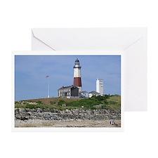 Cute Montauk lighthouse Greeting Cards (Pk of 10)