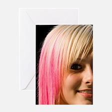 Beautiful modern blonde teenage girl Greeting Card