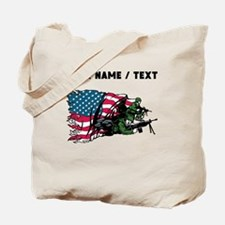 Custom American Soldiers Tote Bag