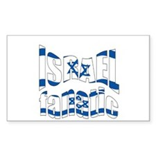 flags Israel Rectangle Decal