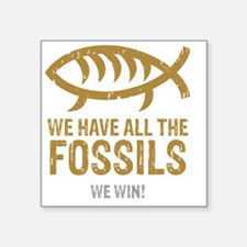 "FossilsNew Square Sticker 3"" x 3"""