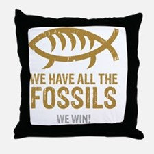 FossilsNew Throw Pillow