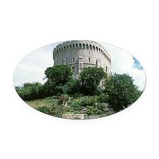 Windsor Castle, Windsor. Round Tow Oval Car Magnet
