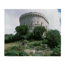 Windsor Castle, Windsor. Round Tower Throw Blanket