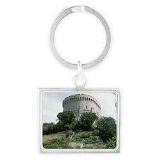Windsor Castle, Windsor. Round  Landscape Keychain