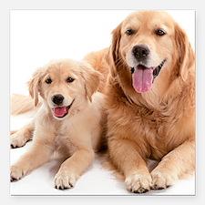 "Kozzi-Dog-Buddies-7240x5 Square Car Magnet 3"" x 3"""