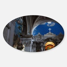 Slovenia. Piran. The Ornate interio Sticker (Oval)