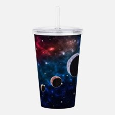 Space scenery with glo Acrylic Double-wall Tumbler