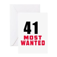 41 most wanted Greeting Card