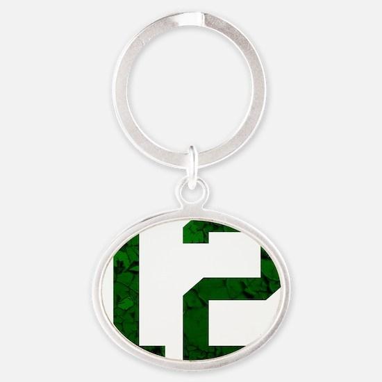 12 Oval Keychain