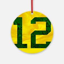 12onyellow Round Ornament