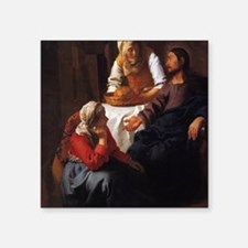 """Christ in the House of Mary Square Sticker 3"""" x 3"""""""