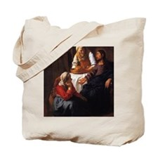 Christ in the House of Mary  Martha Tote Bag