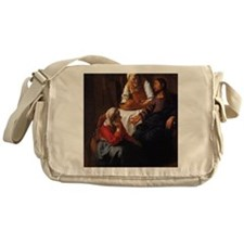 Christ in the House of Mary  Martha Messenger Bag