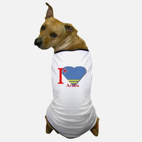 I love Aruba flag Dog T-Shirt