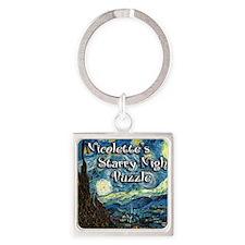 Nicolettes Square Keychain