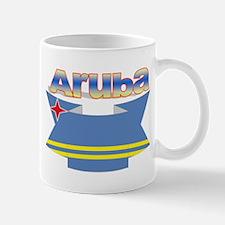 Aruba's flag ribbon Mug