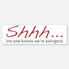 shhh Bumper Bumper Sticker