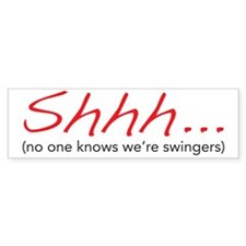 shhh Bumper Sticker