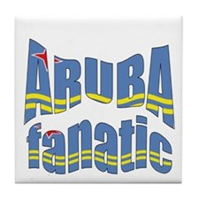 Flag of Aruba sports Tile Coaster