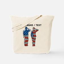 Custom American Soldiers Tote Bag